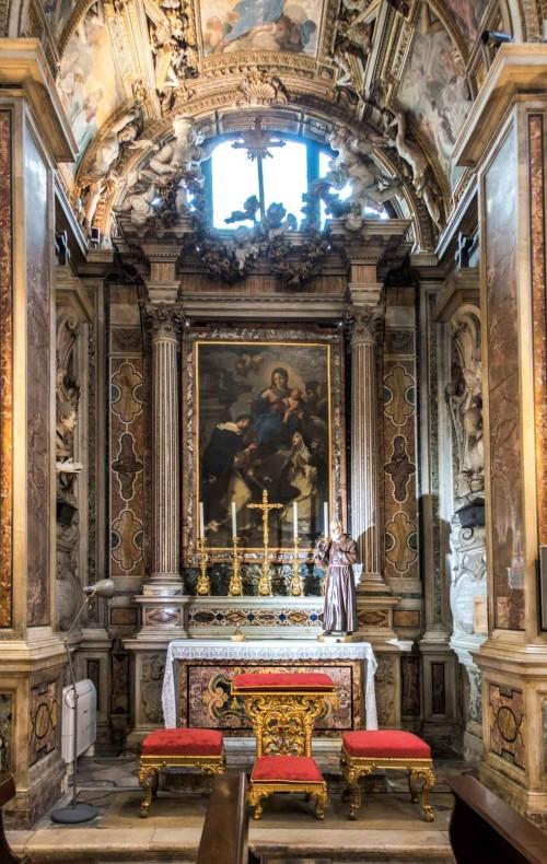 Santa Caterina da Siena a Magnanapoli, kaplica rodu Bonnani, w ołtarzu Madonna del Rosario, Giuseppe B. Passeri
