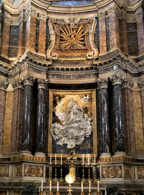 Church of Santa Caterina da Siena a Magnanapoli, main alter, The Ecstasy of St. Catherine, Melchiorre Caffa