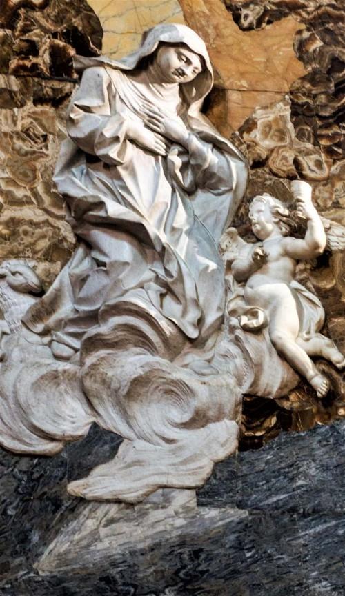 Santa Caterina da Siena a Magnanapoli, św. Agnieszka z Montepulciano,  Pietro Bracci