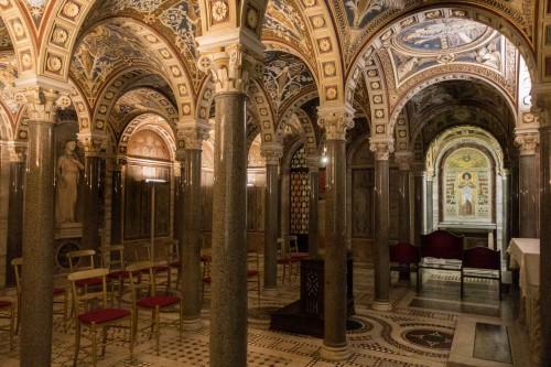 Santa Cecilia, antyczne balneum - miejsce legendarnej kaźni św. Cecylii (podziemia kościoła)