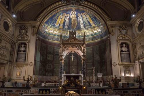 Santa Cecilia, cyborium w absydzie kościoła - Arnolfo di Cambio, koniec XIII w.
