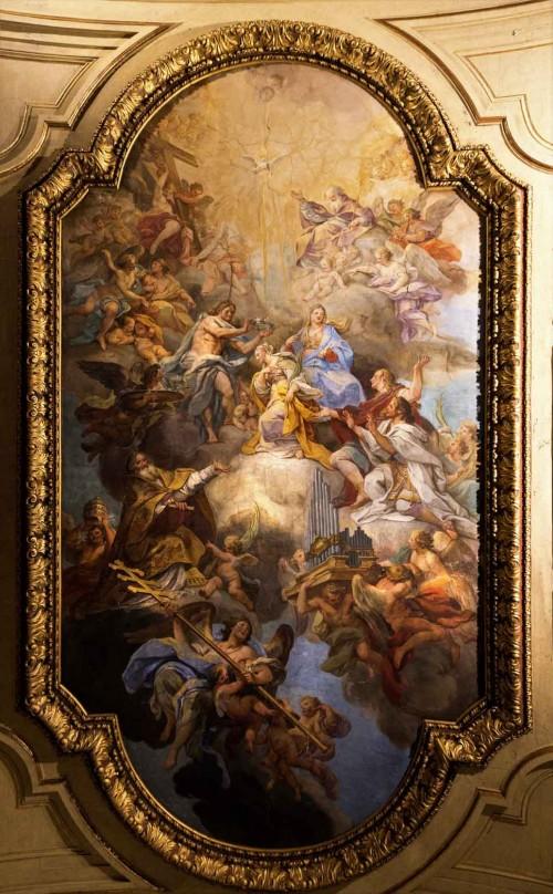 Santa Cecilia, fresk sklepienia kościoła,  Apoteoza św. Cecylii, Sebastiano Conca