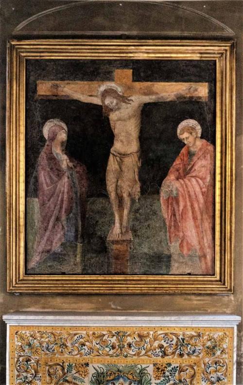 Santa Cecilia, fresk Ukrzyżowanie w lewej nawie kościoła