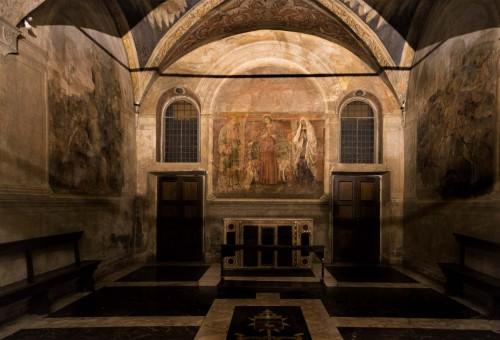 Santa Cecilia, kaplica Ponzianich, ołtarz główny - Antonio del Massaro