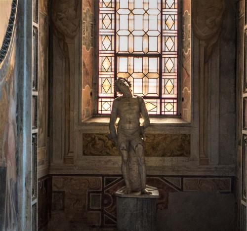 Basilica of Santa Cecilia, Chapel of St. Cecilia, statue of St. Sebastian – Stefano Maderno