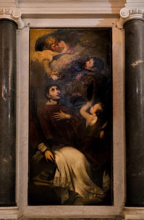 Santa Cecilia, ołtarz boczny - Św. Wawrzyniec i św. Szczepan, Giuseppe Ghezzi