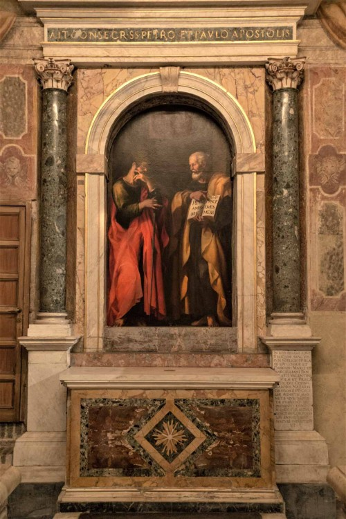 Santa Cecilia, ołtarz śś. Piotra i Pawła, Giovanni Baglione