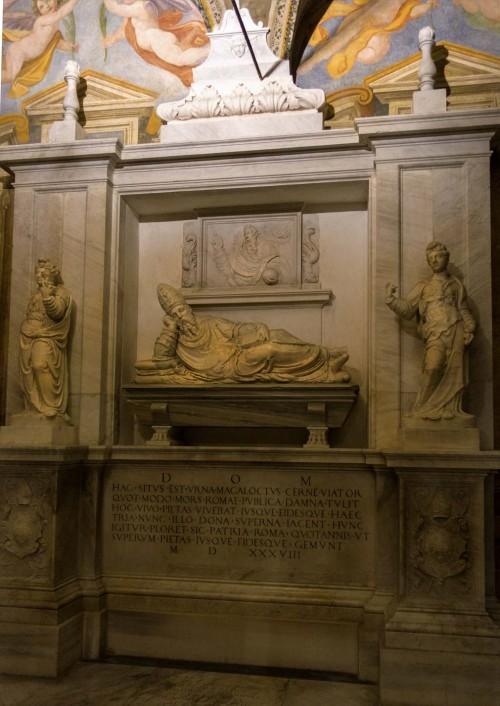 Basilica of Santa Cecilia, funerary monument of bishop Magalotti attributed to Giacomo della Porta