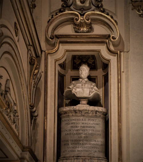 Basilica of Santa Cecilia, bust of Pope Innocent XII in the apse