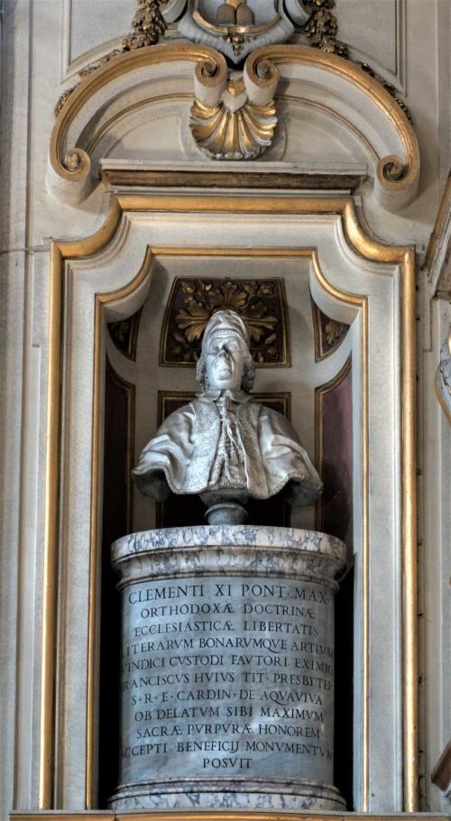 Santa Cecilia, popiersie papieża Klemensa XI, absyda kościoła