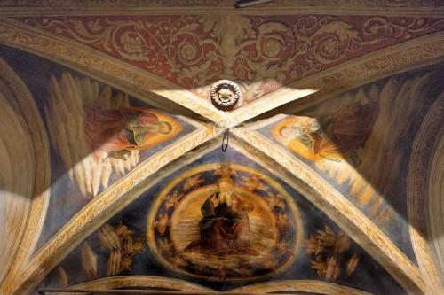 Basilica of Santa Cecilia, vault of the Ponziani Chapel, Antonio del Massaro