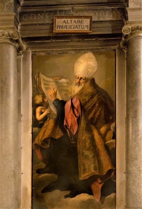 Santa Cecilia, Św. Benedykt, Giuseppe Ghezzi, ołtarz boczny kościoła