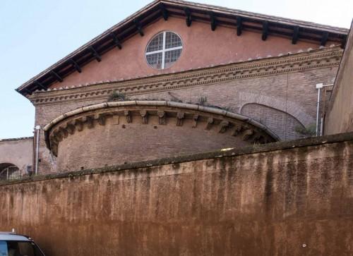 Basilica of Santa Cecilia, view of the apse