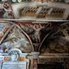 Santa Cecilia, freski westybulu z przedstawieniami świętych na tle pejzażu, XVI w.