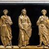 Santa Cecilia, reliefy dekorujące posąg św. Cecylii z wizerunkami Cecylii, Waleriana i Tyburcjusza, Stefano Maderno