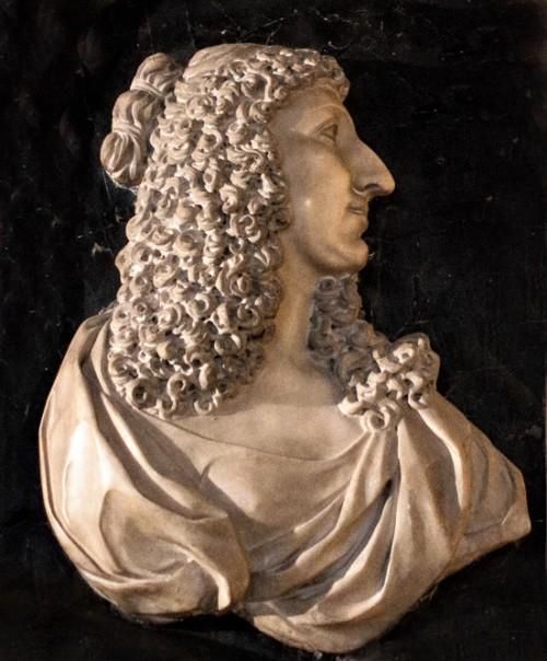 Bust of Christina Vasa, plaque commemorating the queen, fragment, Musei Capitolini