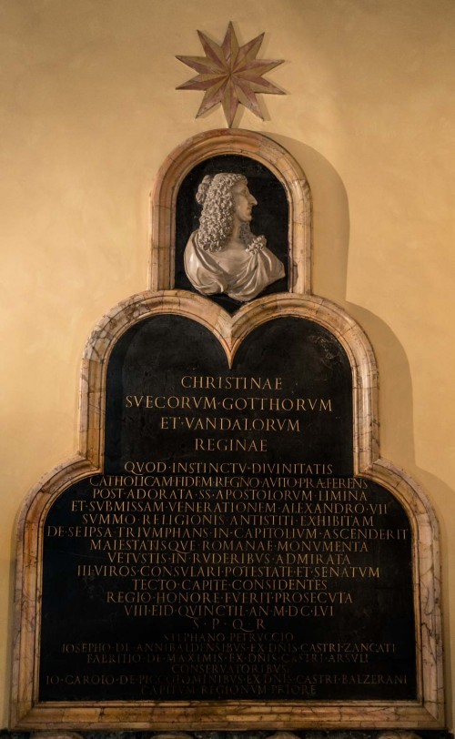 Plaque commemorating Queen Christina, Musei Capitolini