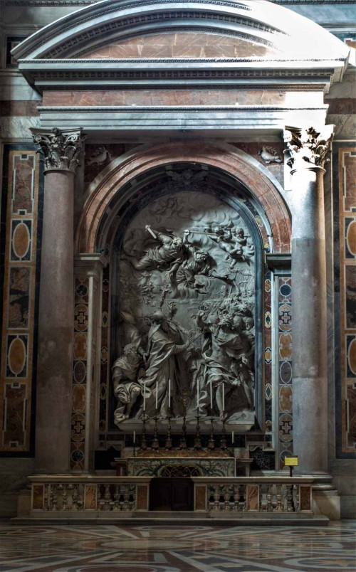 Altar of St. Leo, Alessandro Algardi, Basilica of San Pietro in Vaticano