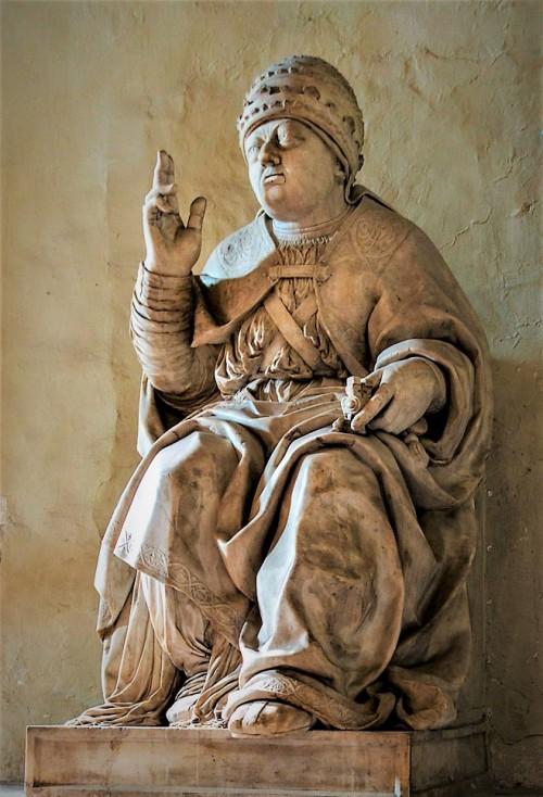 Posąg papieża Leona X, bazylika Santa Maria in Aracoeli