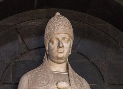 Posąg papieża Leona X, bazylika Santa Maria sopra Minerva