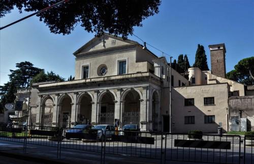 Renaissance façade of the Basilica of Santa Maria in Domnica