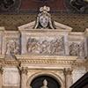 Fragment nagrobka papieża Leona X w absydzie bazyliki Santa Maria sopra Minerva