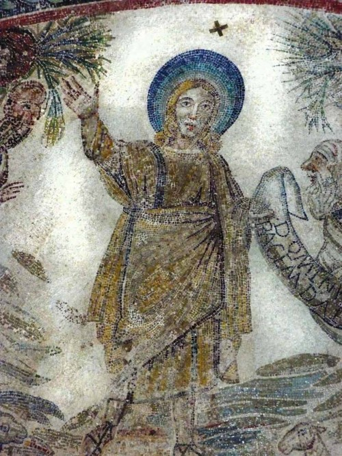Church of Santa Constanza, Christian mosaics, Christ on a mountain in Paradise