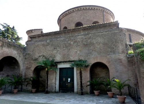 Church of Santa Constanza, enterance portal (old Mausoleum of Constanza)