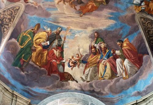 San Giacomo in Augusta, fresk dekorujący sklepienie - Chwała św. Jakuba, fragment