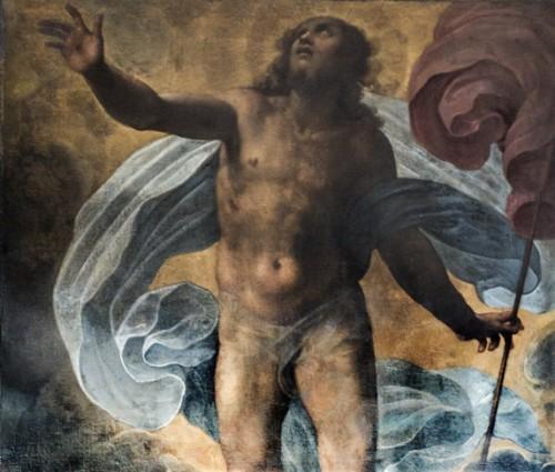 San Giacomo in Augusta, kaplica z obrazem Zmartwychwstania, Pomarancio (Cristoforo Roncalli)