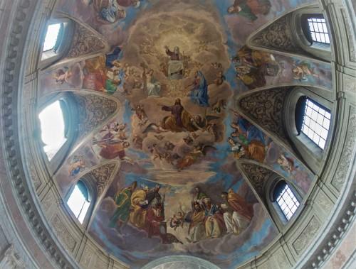 San Giacomo in Augusta, kopuła - Chwała św. Jakuba