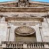 San Giacomo in Augusta, fragment fasady z muszlą św. Jabuba