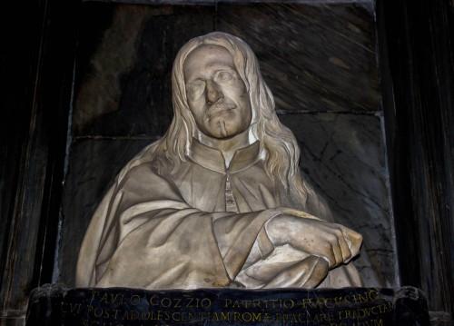 San Girolamo dei Croati, nagrobek Paolo Gozzio, fragment