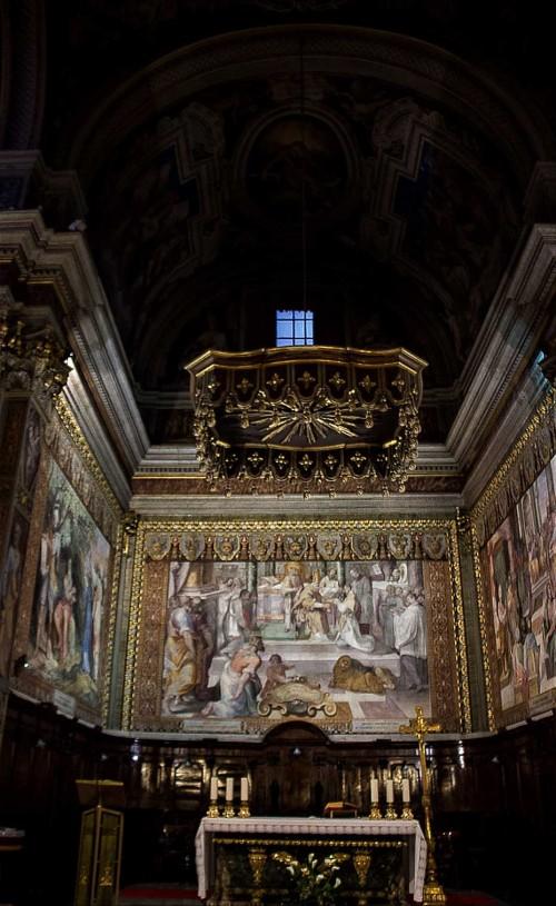 San Girolamo dei Croati, widok chóru z malowidłami Pietro Gagliardiego