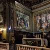 San Girolamo dei Croati, transept i chór z malowidłami Pietro Gagliardiego