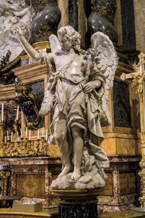 Sant'Ignazio, anioł flankujący ołtarz Alojzego Gonzagi, Bernardino Ludovisi