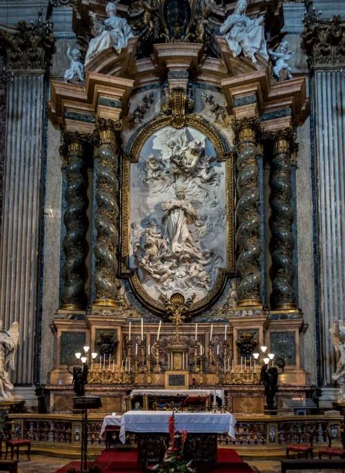 Sant'Ignazio, ołtarz św. Alojzego Gonzagi - Pierre Le Gros, transept kościoła