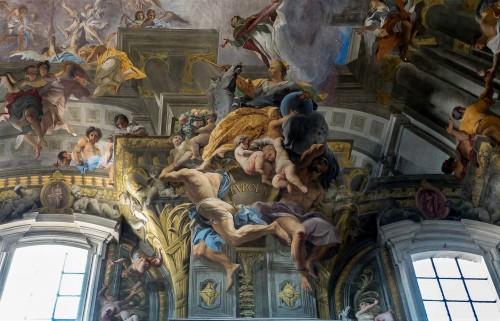 Sant'Ignazio, personifikacja Europy, fragment malowidła na sklepieniu