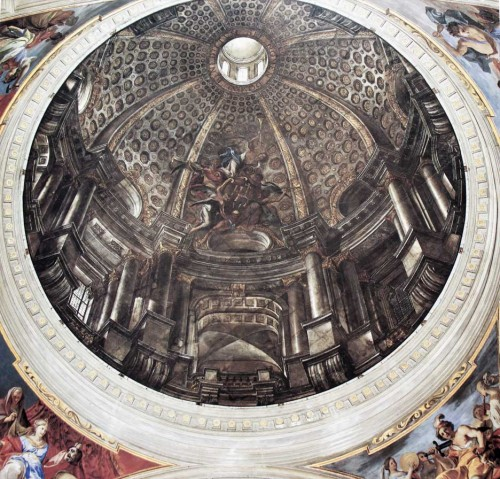 Sant'Ignazio, pozorna kopuła - Andrea Pozzo