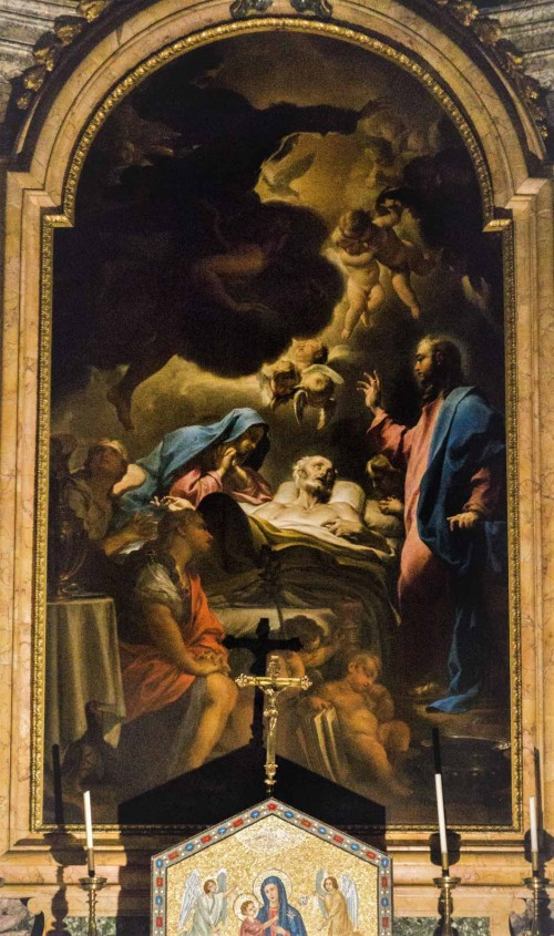 Sant'Ignazio, Śmierć św. Józefa, Francesco Trevisiani, kaplica Sacripante (druga od prawej)