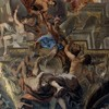 Sant'Ignazio, personifikacja Afryki, fragment malowidła na sklepieniu