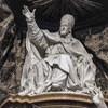 Sant'Ignazio, posąg papieża Grzegorza XV, fragment