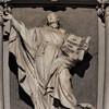 Sant'Ignazio, posąg św. Ignacego Loyoli, Camillo Rusconi -  odlew oryginału znajdującego się w bazylice San Pietro in Vaticano
