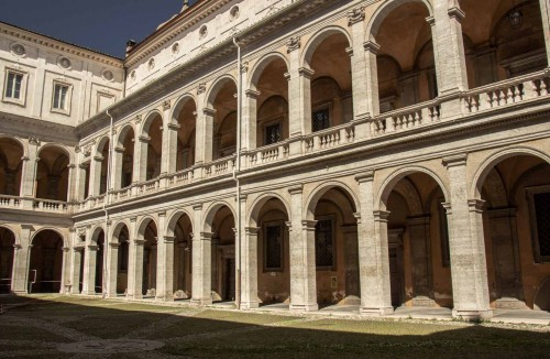 Church of Sant'Ivo alla Sapienza, courtyard of the old La Sapienza University, present-day offices of the city archives