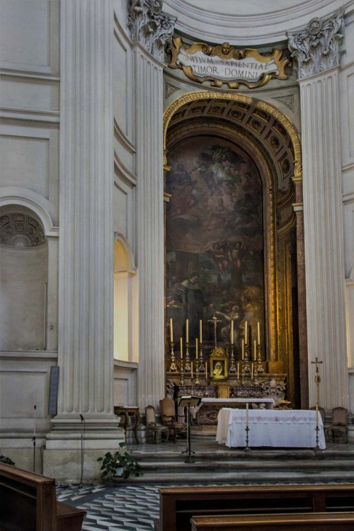 Church of Sant'Ivo alla Sapienza, main altar with a painting depicting St. Ivo, Pietro da Cortona