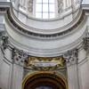 Sant'Ivo alla Sapienza, belkowanie we wnętrzu kościoła