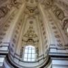 Sant'Ivo alla Sapienza, elementy herbu Chigi papieża Aleksandra VII - góry i ośmioboczne gwiazdy