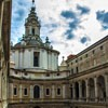 Church of Sant'Ivo alla Sapienza, view of the courtyard of the old university