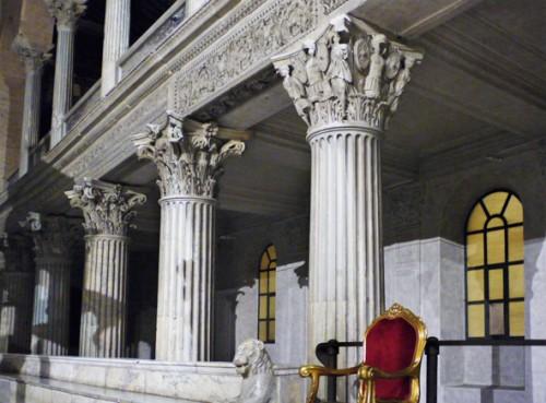 San Lorenzo fuori le mura, kapitele w części kościoła z VI w.