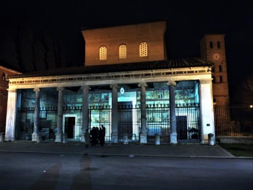 San Lorenzo fuori le mura, przedsionek kościoła